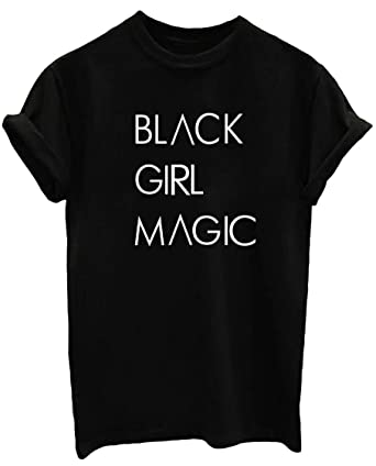 785fb4a7 BLACKOO Women's Printed Letter Tops Short Sleeve Tee Shirts Black Small