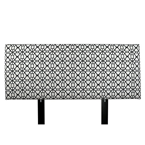 MJL Furniture Designs Alice Padded Bedroom Headboard Contemporary Styled Bedroom Décor, Noah Series Headboard, Windsor Finish, Queen Sized, USA Made (Windsor Queen Headboard)