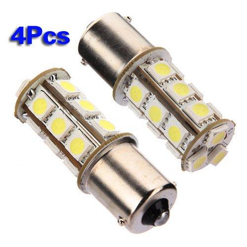 6 opinioni per SODIAL (R) 4X Bianco 1156 P21W R10W BA15S 18 LED 5050 SMD Luce coda lampadina