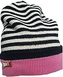 Kate Spade Reversible Stripe Beanie Pink/Black