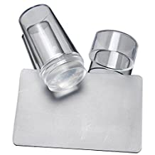 New Pure Clear Jelly Silicone Nail Art Stamper Scraper with Cap Transparent 2.8cm Nail Stamp Stamping Tools