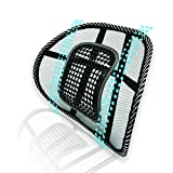 Big Ant Lumbar Support, Car Mesh Back Support with Massage Beads Ergonomic Designed for Comfort and Lower Back Pain Relief - Lumbar Back Support Cushion for Car Seat, Office Chair,Wheelchair