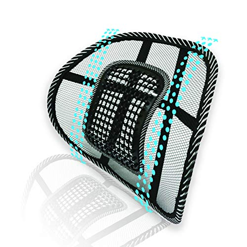 - Big Ant Lumbar Support, Car Mesh Back Support with Massage Beads Ergonomic Designed for Comfort and Lower Back Pain Relief - Lumbar Back Support Cushion for Car Seat, Office Chair,Wheelchair