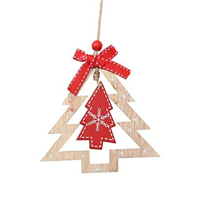 Christmas Tree Cutout.Amazon Com Bestoyard 3pcs Christmas Tree Hanging Ornaments