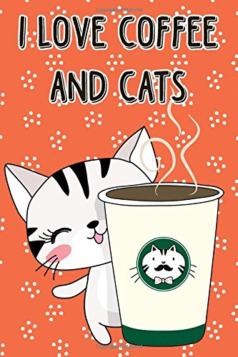 Download Journal Notebook Cat With Cup of Coffee - Orange: 110 Page Plain Blank Journal For Drawing, Writing, Doodling In Portable 6 x 9 Size (My Favorite Plain Journal) (Volume 39) PDF
