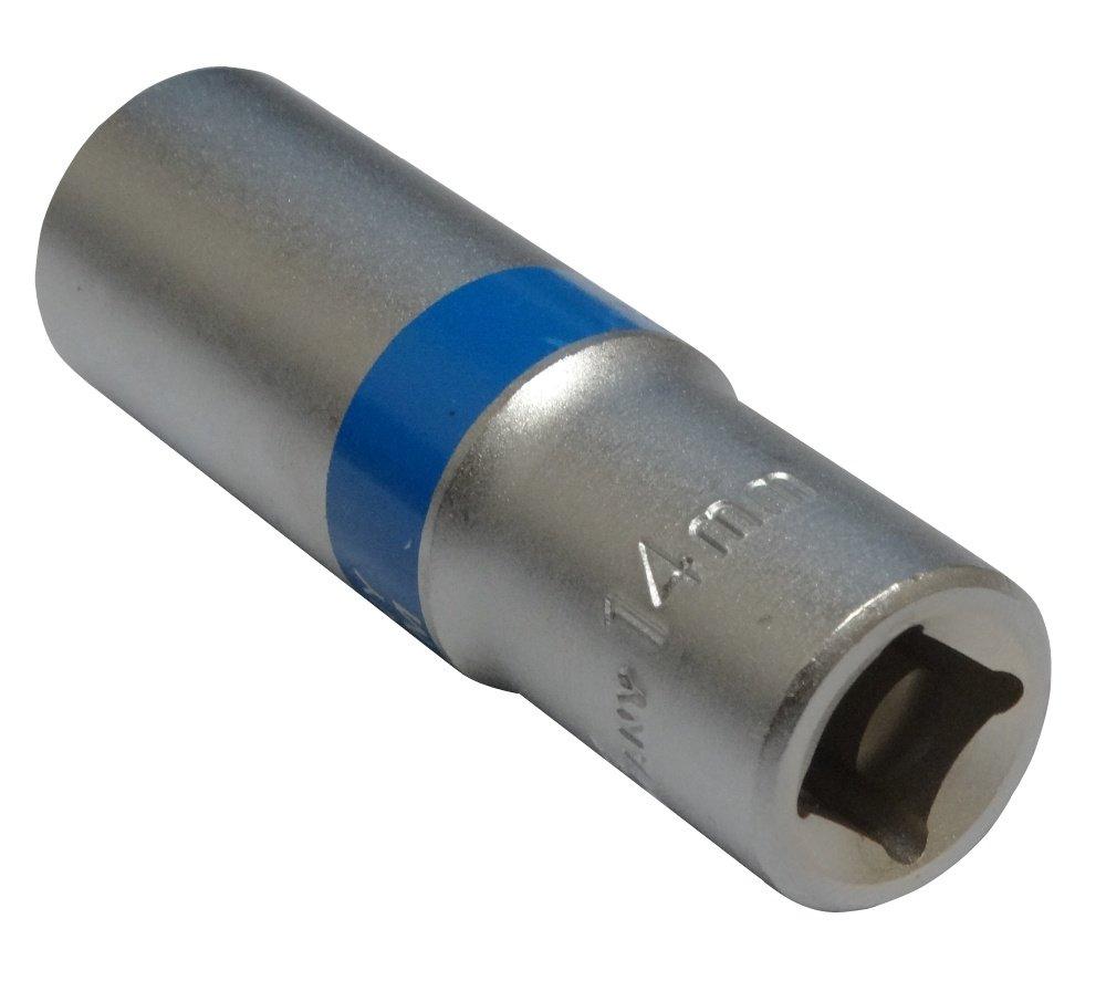 Llave de vaso largo 14mm 3//8 hexagonal C4216 AERZETIX