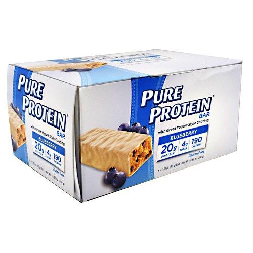 - Pure Protein Greek Yogurt Bar Blueberry (20g Protein) 1.76oz / 50g each 6 in a pack