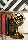 Small Gold Armillary Stand, Metal Globe with