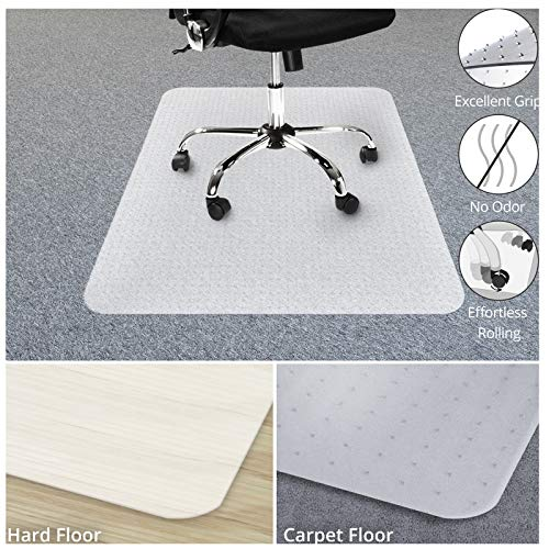 "Chair Mat for Carpets | Low/Medium Pile Computer Chair Floor Protector for Office and Home | Opaque, Studded | Polypropylene | 30""x48"""