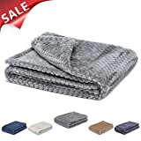 #7: Fuzzy blanket or fluffy blanket for baby girl or boy, soft warm cozy coral fleece toddler, infant or newborn receiving blanket for crib, stroller, travel, outdoor, decorative (28 x 40 in, Flint Gray)