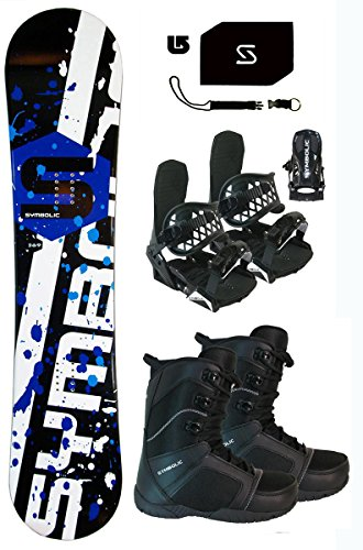 Symbolic 369 Snowboard & Bindings & Boots & Leash & Stomp & Burton Decal Package