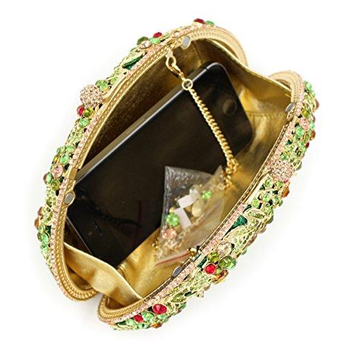 A métallique d'embrayage cadre Luxe Sac soirée à Mariage femme de sac Chers à De Fav main sac Strass main wUZ4Tpq