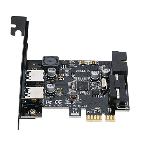 GXG-1987 PCI-E to USB 3.0 2-Port PCI Express Card Mini PCI-E USB 3.0 Hub Controller Adapter with Internal USB 3.0 19-Pin Connector and 5V 4 Pin Male Power Dual Port Connector by GXG-1987 (Image #5)'