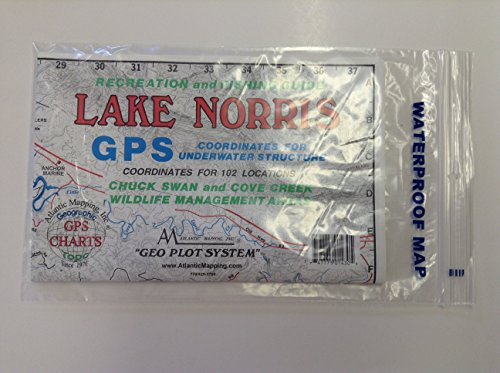Atlantic Mapping Inc.- Lake Norris- New Waterproof Map by Atlantic Mapping