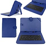 DURAGADGET 10' Faux Leather Protective Stand Case with Micro USB German Keyboard + Bonus Stylus Pen for NetTab Skynet II/Audi Android Tablet/Polaroid MIDHQ10 / Zoostorm PlayTab 3305-1030 10.1'