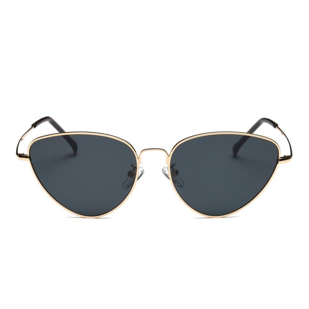 Occhiali , feiXIANG® Donna uomo estate vintage retrò gatto occhi occhiali unisex occhiali da sole,Lega + resina,Oro, Rosso, Nero, Rosa, Giallo Giallo (Giallo)