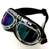 Motorcycle Scooter Mopeds Vespa Pilot Style Goggles, Tinted Lens
