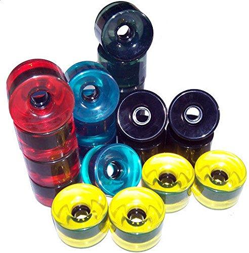 休みペダル戦う5 Longboardスケートボードホイールセットホイール76 mmマルチカラー+ Abec 5 Bearings