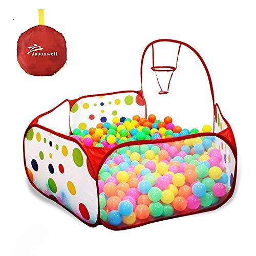 Jasonwell Interiores Casas Jardin niños Casas para niños con aro de Baloncesto y Bolsa de Almacenamiento con Cremallera...