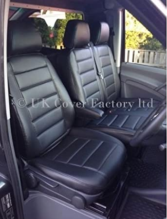 UK Cover Factory BLACK QUILTED Seat Quilted Pvc Leather Made To Measure Covers