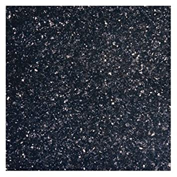 "Fantastisch 18"" x 18"" Polished Granite Tile in Black Galaxy - Ceramic Tiles  OY75"