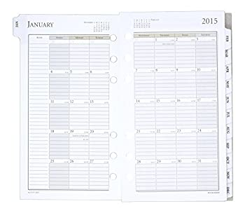 Day Runner Weekly Planner Refill 2015, 3.75 X 6.75 Inch Page Size (471-285y) 7
