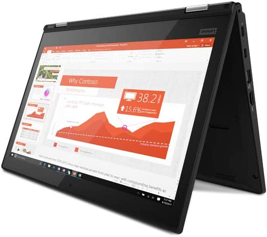 Lenovo Thinkpad L380 Yoga 13.3 inches IPS Full HD FHD (1920x1080) Touchscreen 2-in-1 Business Laptop (Intel Core i3-8130U, 8GB DDR4 RAM, 256GB SSD) ...