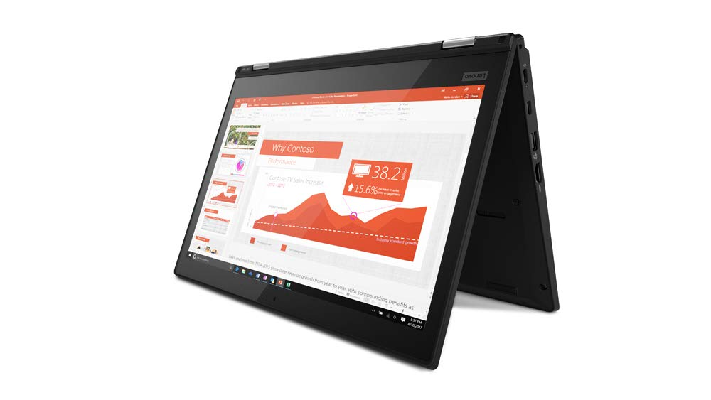 Lenovo Thinkpad L380 Yoga 13.3 inches IPS Full HD FHD (1920x1080) Touchscreen 2-in-1 Business Laptop (Intel Core i3-8130U, 8GB DDR4 RAM, 256GB SSD) Type-C, Windows 10 Pro (Renewed)