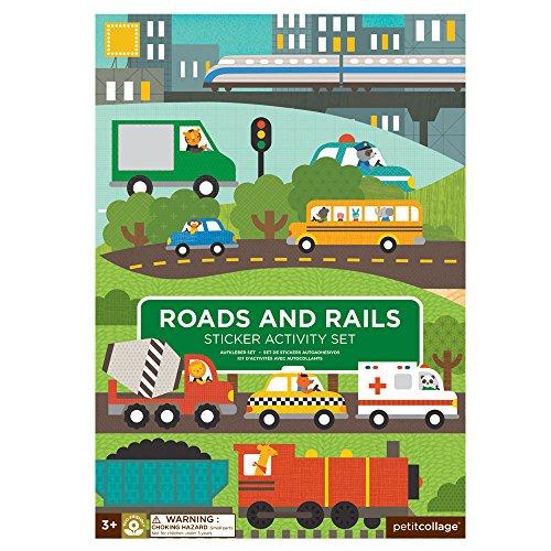 Petit Collage Sticker Activity Set, Roads & Rails (Sticker Collage)