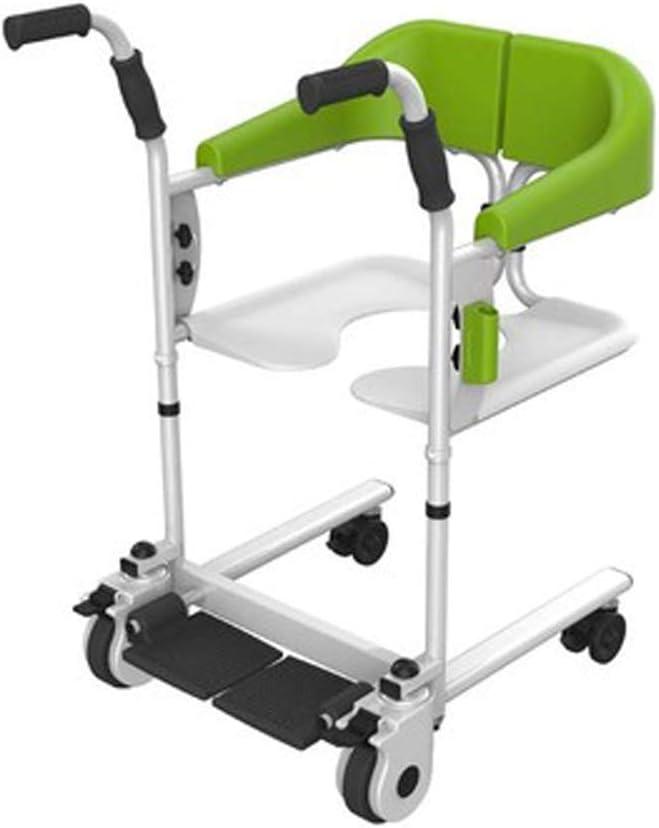 Antigüedad Walker plegable Roller ajustable mango, multifunción lift puede un baño con ayuda de WC tomar. Cuidado para personas mayores de color verde.