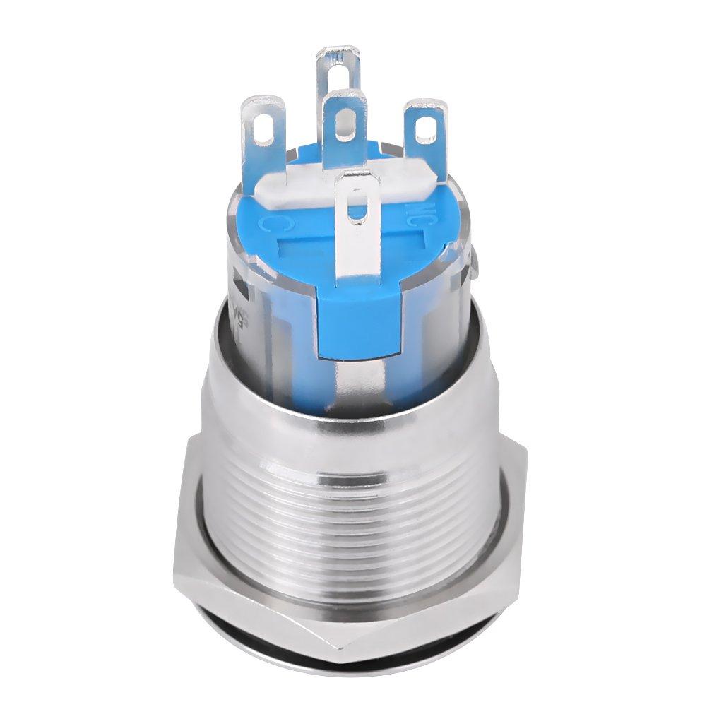 da 12/V impermeabile Avviatore per interruttore pulsante di avviamento motore auto Qiilu