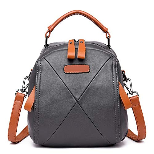 Fashion Hombro Backpack Bolso Cuero Trend Color De LANGUANGLIN E Wild D De Collision RpXw8q