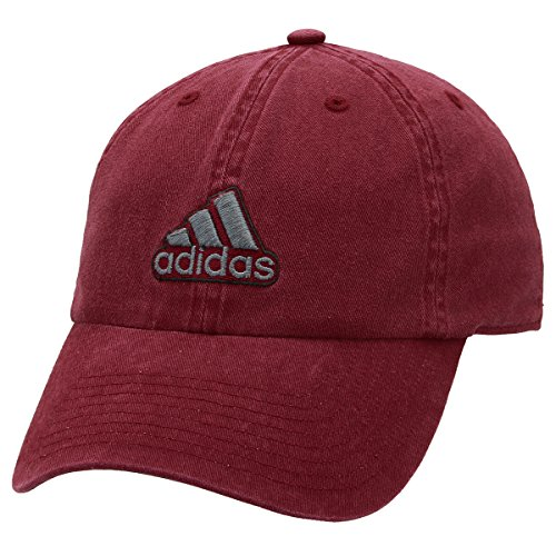 adidas Men's Ultimate Relaxed Fit Cap, Collegiate Burgundy/Onix/Black, One (Adidas Red Hat)