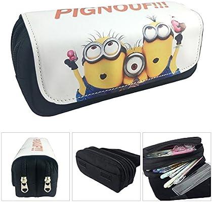 Estuche Escolar La caja de lápiz para la escuela dos compartimentos Minions Gru: Mi villano favorito 3 Pignouf!: Amazon.es: Juguetes y juegos