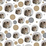 Shorthair Tabby Kitten Cat Computer Mouse Keyboard Premium Gift Wrap Wrapping Paper Roll