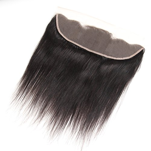 13x4 full lace frontal Closure Straight Brazilian Virgin Best Remy Human Hair Front Free Part Bleached Knots With Baby Hair Unprocessed Top Extensions Natural Color