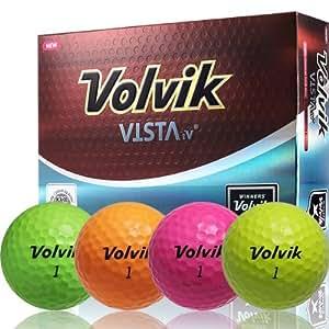 volvik vista iv 4 piece golf ball pack of 12 orange. Black Bedroom Furniture Sets. Home Design Ideas