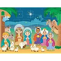 Child's Christmas Nativity Stable Advent Calendar Classroom Bulk Set, Pack of 12
