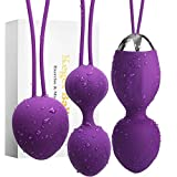 ROSERAIN Kegel Balls for Women - Doctor Recommended Ben wa Balls Sets Kegel Exercise Weights kit for Beginners & Advanced with Massage Wireless Remote Control Rechargeable
