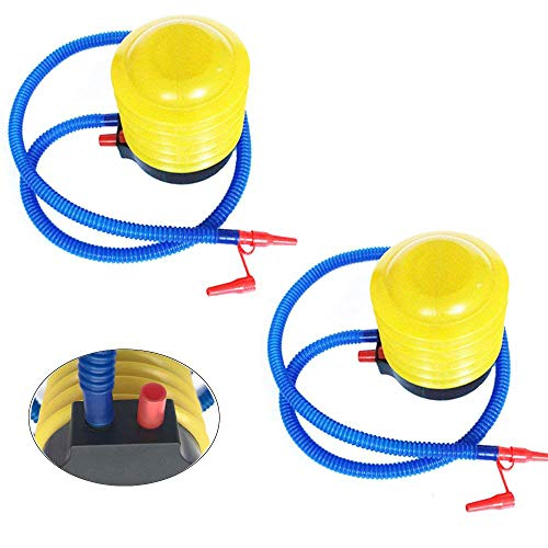 PERTTY 2Pcs Air Balloon Pump Foot Balloon Pump Plastic Bellows Foot Pump for Party Festivals Birthday Balloon Inflation ()
