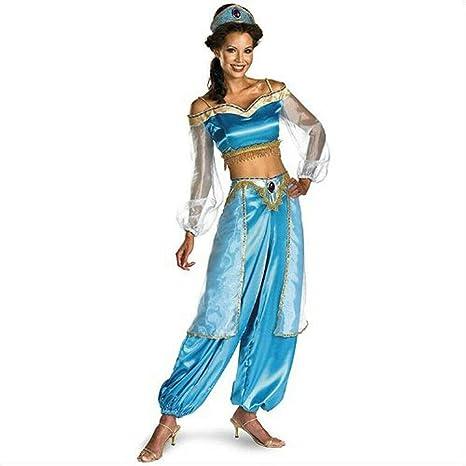 Binwwe Belly Dancer Princess Aladdin Jasmine Cosplay - Disfraz de ...