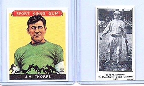 JIM THORPE 1933 GOUDEY #6 & 1916 (M101-5) 2
