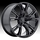 OE CREATIONS PR137 Gloss Black Wheel with Painted (20 x 9. inches /5 x 71 mm, 34 mm Offset)