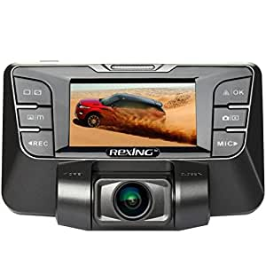 REXING S300 1080P 170 Degree Wide Angle Night Vision Dash Cam Pro with 16GB MicroSD Card