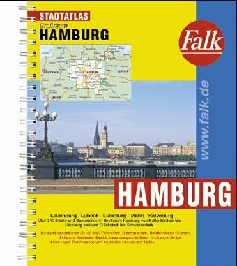 Falkplan Stadtatlas Hamburg und Umgebung, mit Lübeck. Spiralheftung