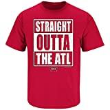 Atlanta Football Fans. Straight Outta The ATL. Red T Shirt (Sm-5X) (X-Large)