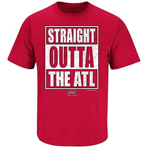 Jersey Football Falcons Atlanta Red - Smack Apparel Atlanta Football Fans. Straight Outta The ATL. Red T Shirt (Sm-5X) (3XL)