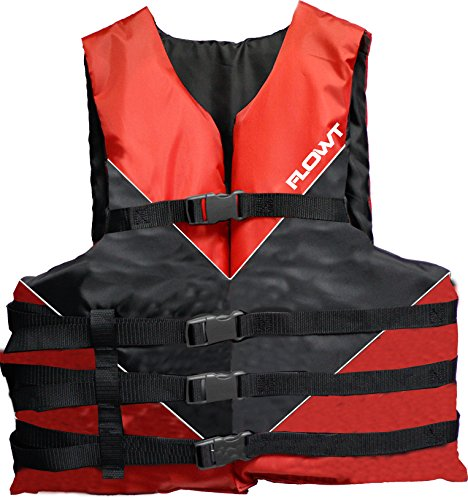Flowt 40302-OS Type III Multi-Sport Life Vest (Red, Oversize )