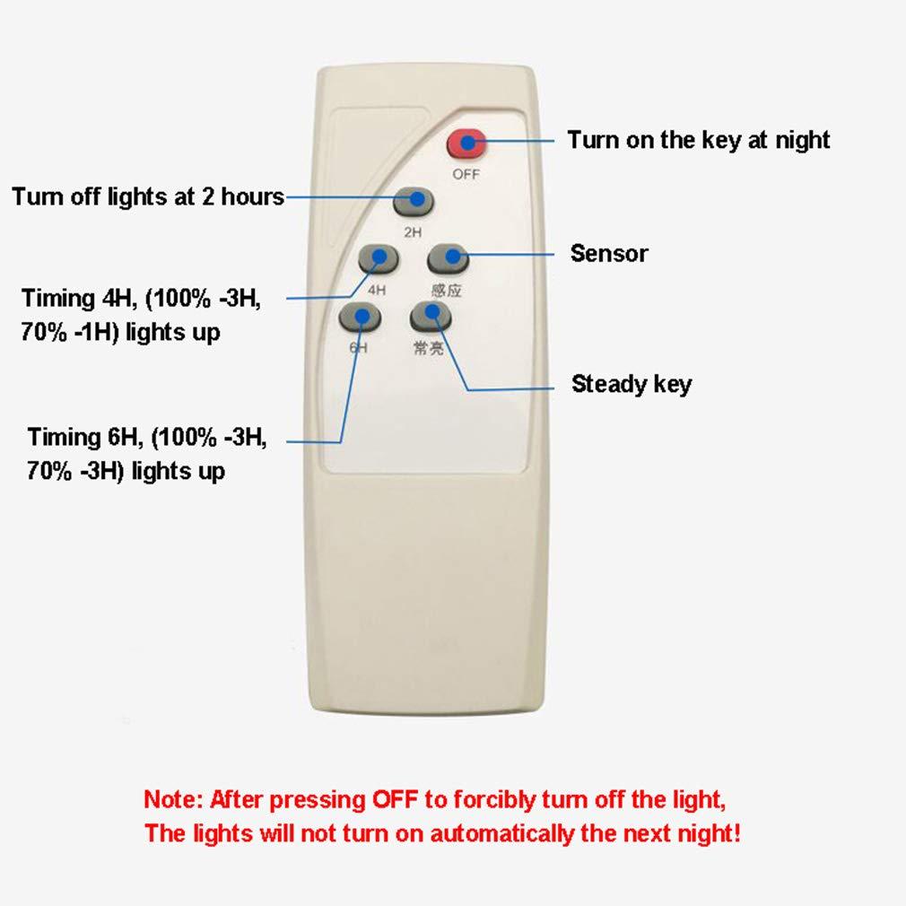 TIM-LI Farola Solar con Inducci/ón De Radar Y L/ámpara De Pared con Control Remoto Luz De Inundaci/ón Impermeable Al Aire Libre para Patio//Jard/ín//Calle//Cancha De Baloncesto,120w