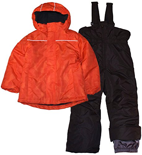 Pulse Little Boys' Barrel Snowsuit Waterproof Orange Digital, Medium (6) (2 Toddlers Snowsuit Piece For)